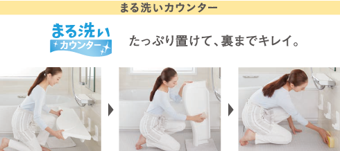 まる洗いカウンター